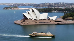 Sydney Opera House Harbour Stock Footage