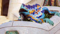 Stock Photo of Antoni Gaudi in Barcelona, Spain.