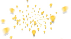 Idea Bulbs Zooming out Stock Footage