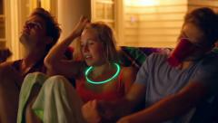 Happy Teens Dance And Act Silly At A House Party (Camera Dolly Move) - stock footage