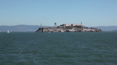 Alcatraz Island in San Francisco Bay Stock Footage