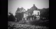 Houses destroyed during floods Stock Footage