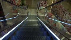 Movement down escalator Stock Footage