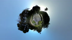 4K UHD World of tropical botanical garden, people enjoying sunset Stock Footage