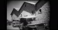 Military troop travelling in van Stock Footage