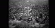 Italian soldiers holding rifles and preparing for firing Stock Footage