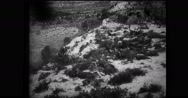 Italian soldiers firing machine guns Stock Footage