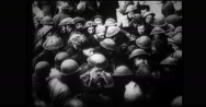 Troops of military soldiers Stock Footage