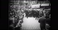 People gathering for King Alexander I's funeral Stock Footage
