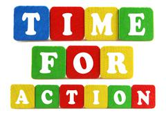 Time for action concept Stock Photos