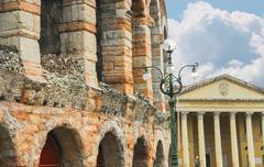 Arena of verona - the place of annual festival operas in verona, italy Stock Photos