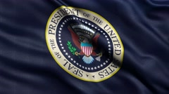 4K US president seal flag seamless loop Ultra-HD Stock Footage