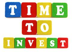 Stock Photo of time to invest concept