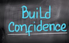 Build confidence concept Piirros