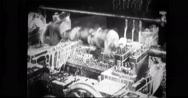 Crankshaft being processed with soapy water Stock Footage