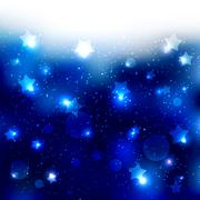 Stock Illustration of Sparkling Blue Star Celebration Background