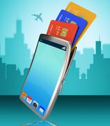 Credit card online representing world wide web and internet Piirros