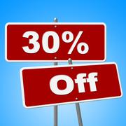 Stock Illustration of thirty percent off showing sales merchandise and reduction