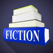 Stock Illustration of fiction book representing story telling and literature