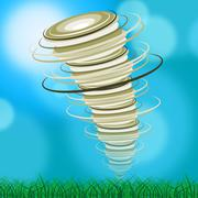 Whirlwind tornado representing hurricane swirl and powerful Stock Illustration