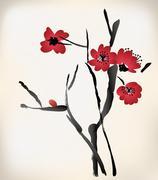 Blossom painting Stock Illustration