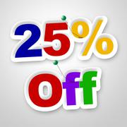 twenty five percent meaning promotional sale and retail - stock illustration