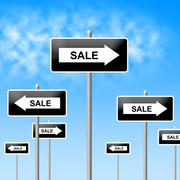 Stock Illustration of sale sign indicating savings retail and offer