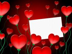 Heart message meaning valentine day and affection Stock Illustration