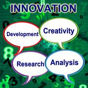 Innovation words indicating revolution construct and create Piirros
