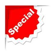 Stock Illustration of special label meaning noteworthy outstanding and exceptional