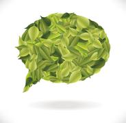 leaves dialog - stock illustration