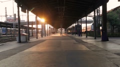 Pilsen Train Station Stock Footage