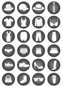 Dressing icons Stock Illustration
