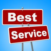 best service signs means number one and advice - stock illustration