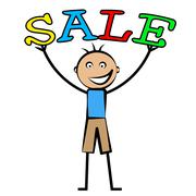 boys sale meaning promotional toddlers and kid - stock illustration