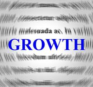 Growth definition indicating increase meant and development Piirros