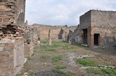 Remnants of townhouses - stock photo