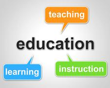 education words represents learning tutoring and schooling - stock illustration