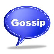 gossip speech bubble represents chat room and chatter - stock illustration