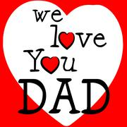 we love dad representing happy fathers day and daddy - stock illustration