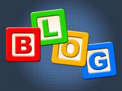 Blog blocks meaning youngster childhood and youth Stock Illustration