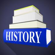 history books showing the past and textbook - stock illustration