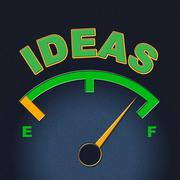 Stock Illustration of ideas gauge showing creativity inventions and concepts