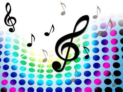 Music background representing musical note and acoustic Piirros