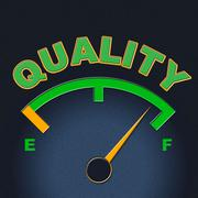 Quality gauge representing meter approve and certified Stock Illustration