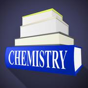 chemistry books showing formula textbook and formulas - stock illustration
