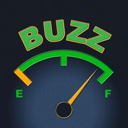 Buzz gauge shows scale awareness and exposure Stock Illustration