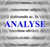 Analyse definition indicating data analytics and meaning Stock Illustration