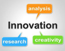 Innovation words indicating inquiry analysis and data Piirros