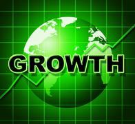 Stock Illustration of growth graph means financial expansion and forecast